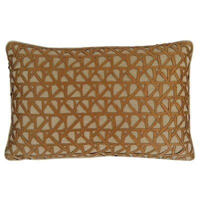 Lake Palace Silk Lumbar Pillow Color: Gold/Oat