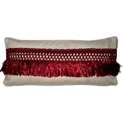 Vie En Rose Fringe Lumbar Pillow