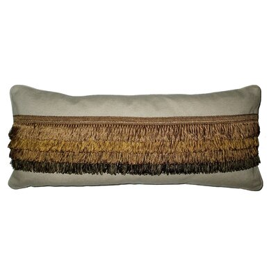 Brittany Center Fringe Linen Lumbar Pillow