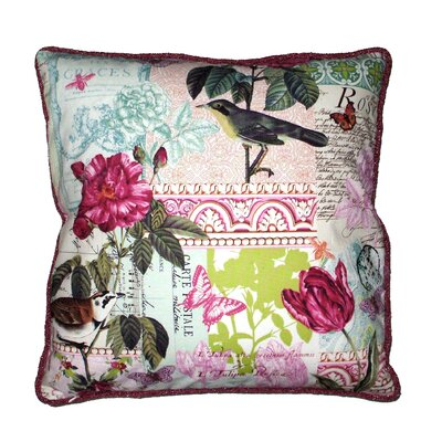 Papillion Collage Throw Pillow