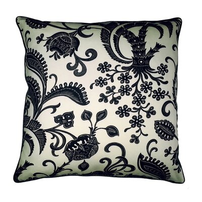 Barcelona Floral and Stripe Throw Pillow