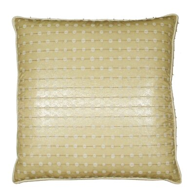 Oceana Metallic Button Hole Stitch Throw Pillow