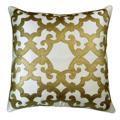 Poleis Ferronnerie Boulevard Throw Pillow Color: White/Gold