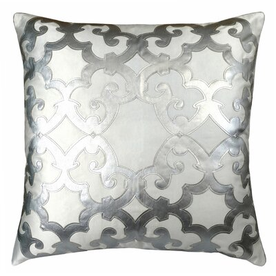 Poleis Ferronnerie Boulevard Throw Pillow Color: White/Silver