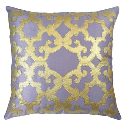Poleis Ferronnerie Boulevard Throw Pillow Color: Orchid/Gold