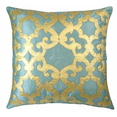 Poleis Ferronnerie Boulevard Throw Pillow Color: Mineral/Gold