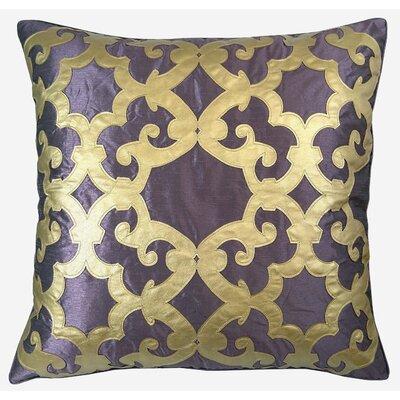 Poleis Ferronnerie Boulevard Throw Pillow Color: Amethyst/Gold