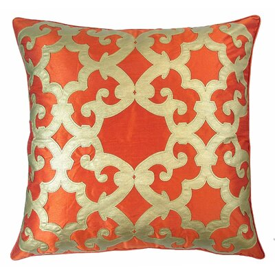 Poleis Ferronnerie Boulevard Throw Pillow Color: Rust/Gold