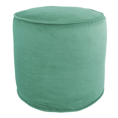 Corby Majestic Plush Pouf Color: South Sea