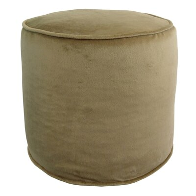 Corby Majestic Plush Pouf Ottoman Color: Saddle