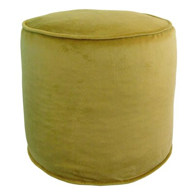 Corby Majestic Plush Pouf Ottoman Color: Acid Green