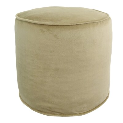 Corby Majestic Plush Pouf Color: Parchment