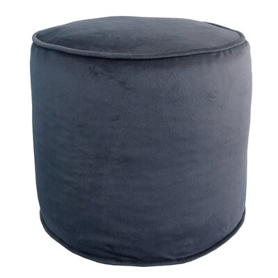 Corby Majestic Plush Pouf Ottoman Color: Copen