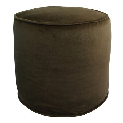 Corby Majestic Plush Pouf Ottoman Color: Chocolate