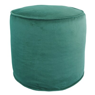 Corby Majestic Plush Pouf Ottoman Color: Peacock