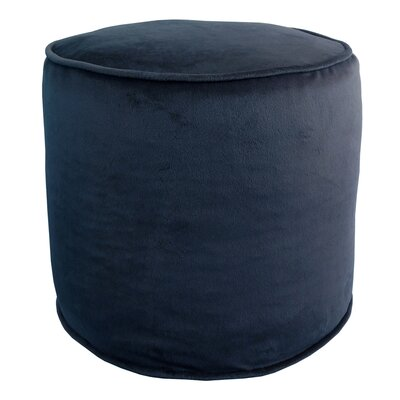 Corby Majestic Plush Pouf Ottoman Color: Navy