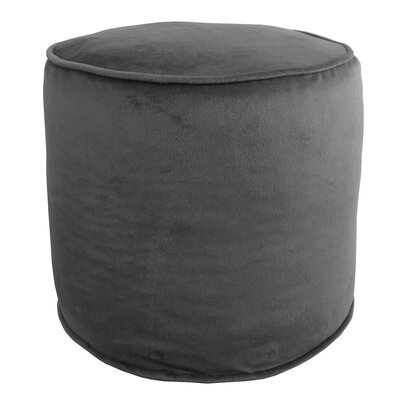 Corby Majestic Plush Pouf Ottoman Color: Gray