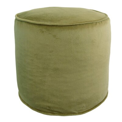 Corby Majestic Plush Pouf Ottoman Color: Sage