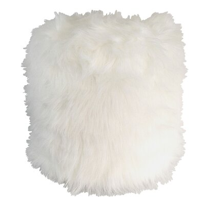 Pouf Upholstery Color: White