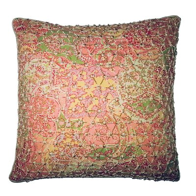 Vie En Rose Knitted Overlay Throw Pillow