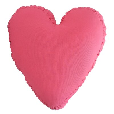 Shirred Heart Cotton Throw Pillow Color: Pink