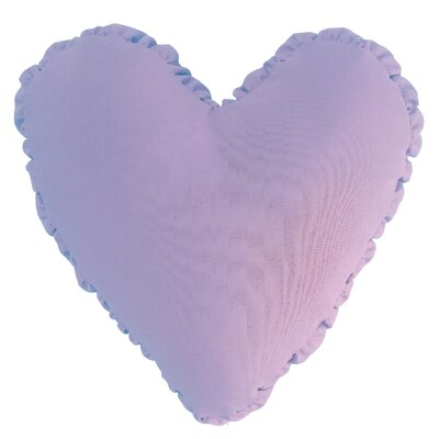 Shirred Heart Cotton Throw Pillow Color: Lilac