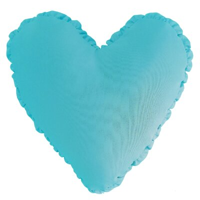 Shirred Heart Cotton Throw Pillow Color: Aqua