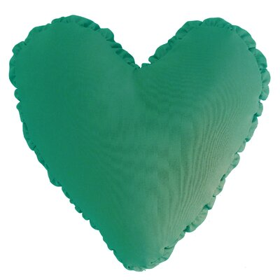 Shirred Heart Cotton Throw Pillow Color: Teal