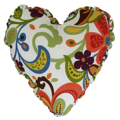 Wildwood Heart Indoor/Outdoor Throw Pillow Color: Garden