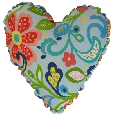 Wildwood Heart Indoor/Outdoor Throw Pillow Color: Opal