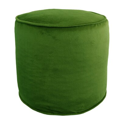 Corby Majestic Plush Pouf Ottoman Color: Green