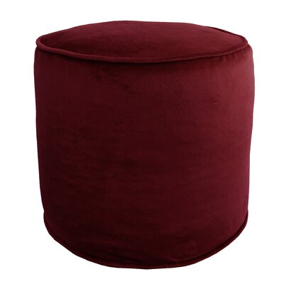 Corby Majestic Plush Pouf Ottoman Color: Burgundy