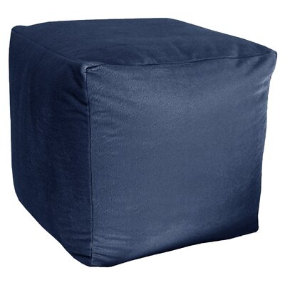 Majestic Plush Cube Pouf Ottoman Upholstery: Navy
