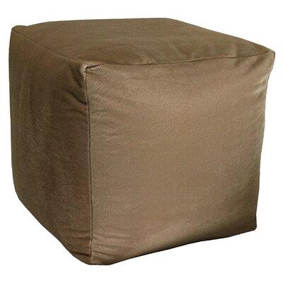 Majestic Plush Cube Pouf Ottoman Upholstery: Nutmeg