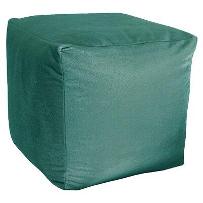 Majestic Plush Cube Pouf Ottoman Upholstery: Peacock
