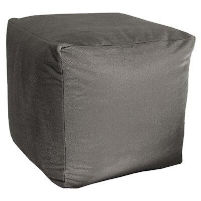 Majestic Plush Cube Pouf Ottoman Upholstery: Gray