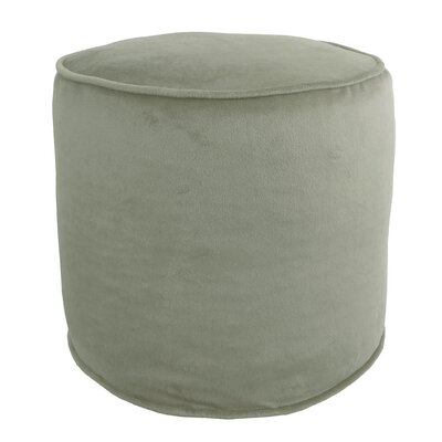 Corby Majestic Plush Pouf Ottoman Color: Smoke