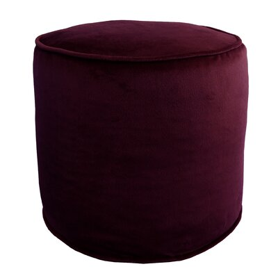 Majestic Plush Pouf Ottoman Color: Concord