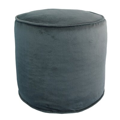 Corby Majestic Plush Pouf Ottoman Color: Storm