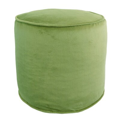 Corby Majestic Plush Pouf Ottoman Color: Ivy