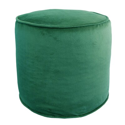 Corby Majestic Plush Pouf Ottoman Color: Teal