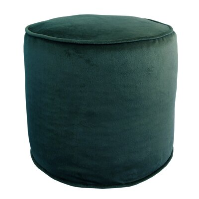 Corby Majestic Plush Pouf Ottoman Color: Midnight