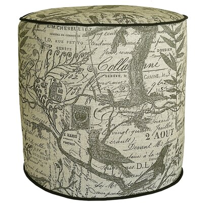 French Calligraphy Pouf Ottoman