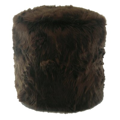 Pouf Ottoman Upholstery Color: Brown