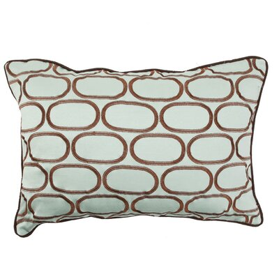 Pod Embroidery Lumbar Pillow Color: Light Blue