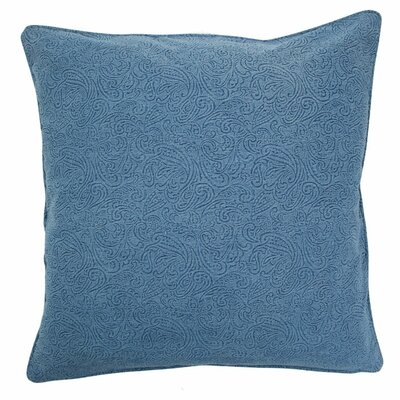 Large Embossed Floral Pillow Color: Blue, Size: Large