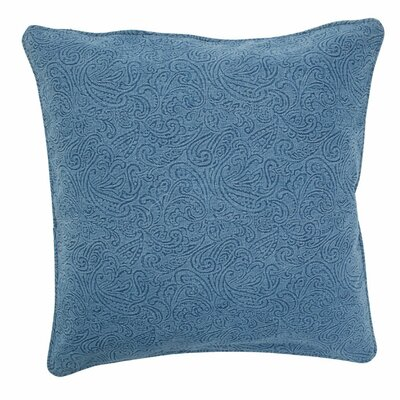 Large Embossed Floral Pillow Color: Blue, Size: Small