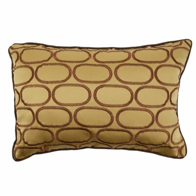 Pod Embroidery Lumbar Pillow Color: Dijon