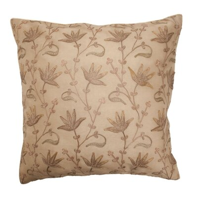 Floral Silk Throw Pillow