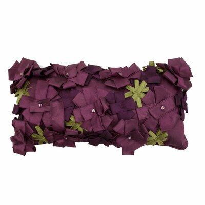 Origami Rose Lumbar Pillow Color: Lavender